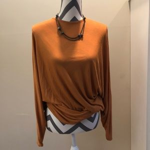 Givenchy Paris Dark Apricot Draped Top